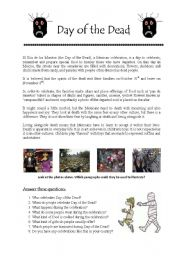 English Worksheet: Day of the Dead