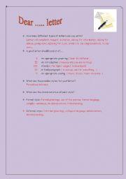 English Worksheets: Dear Letter (1)