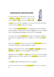 English Worksheet: CLEANING YOUR HOUSE � PART 2 (COMPREHENSION TEXT AND EXERCISES)
