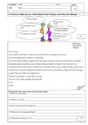 English Worksheet: Diagnostic Test for 3rd grade highschool