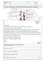 English Worksheet: Diagnostic Test for 3rd grade highschool