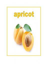 fruit fash-cards (fully editable)