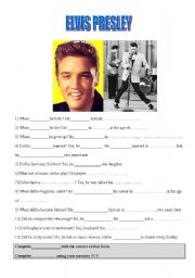 English Worksheets: Elvis Presley�s biography