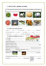 English Worksheet: Uncle Hedy�s farm 7 th form