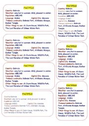English Worksheets: factfile about bahrain