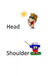 English Worksheet: body parts flashcards