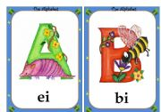 Alphabet flashcards- 1/4