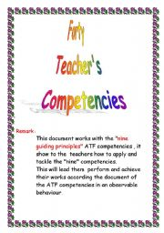 English Worksheets: tacher�s competencies