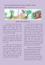 English Worksheets: mONKY SEE, mONKEY DO
