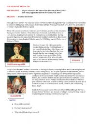 English Worksheets: THE HEIRS OF HENRY VIII