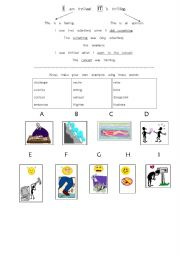 English Worksheet: Ed / Ing (Participial) Adjectives