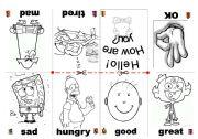 English worksheet: Feelings Mini Book