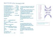 English Worksheets: Because you loved me by C. Dion