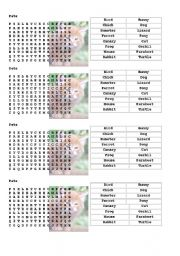 English Worksheets: Pets-Wordsearch