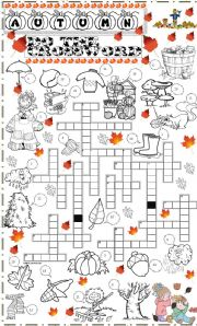 English Worksheets: autumn crossoword