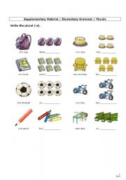 English Worksheets: Plural Forms (1): +s/+es/+ies