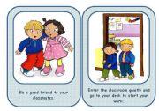 English Worksheet: CLASSROOM RULES - flashcards set (3/3 ws)