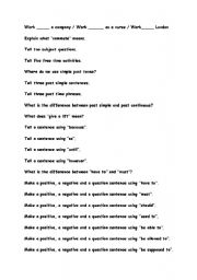 English Worksheets: Revision material for Face2Face Pre. Intermediate