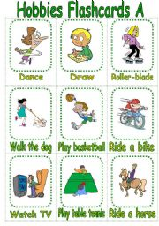 action words flash cards pdf