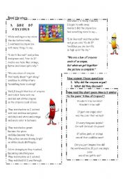 English Worksheets: The box of crayons (it helps to solve problems among students)