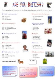 English Worksheets: Are you British ?