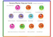 English Worksheet: Nursery Rhyme