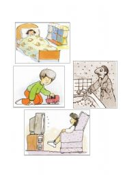 English Worksheets: Rooms-Action part 2