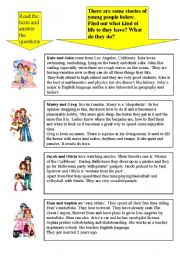 English Worksheets: Who are they? What do they do?     PART 1