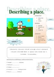 English Worksheet: Describing a place.