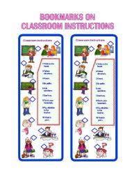 Bookmarks on Classroom Instructions II ** fully editable