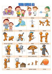 English Worksheets: Verb cards 03