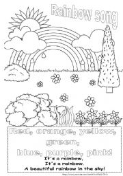 Rainbow song worksheet