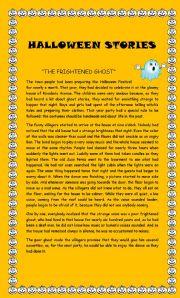 English Worksheet: Halloween stories