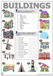 English Worksheet: Buildings