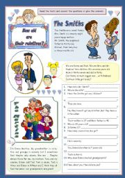 English Worksheets: HOW OLD ARE THEIR RELATIVES?