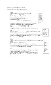 English Worksheet: Father and Son (by Cat Stevens)