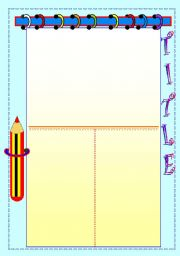 English worksheet: Reading comprehension template.