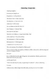 English Worksheets: Amazing Anagrams
