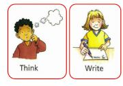 English Worksheet: Flash Cards or posters for classroom action verbs