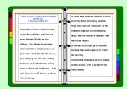 Capital letters, questions and gap-fill worksheets