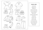 English Worksheet: Colour these clothes