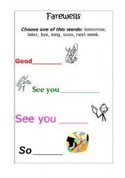 English Worksheets: FAREWELLS