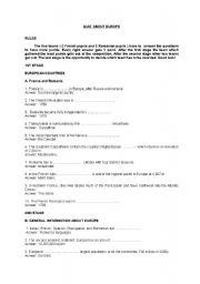 English Worksheet: Quiz About Europe