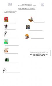 English worksheet: What are people doing?