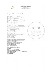 English Worksheet: Don´t Worry, Be Happy