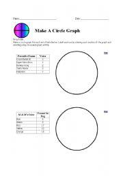 English Worksheets: Circle Graph