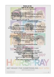 English Worksheet: HAIRSPRAY
