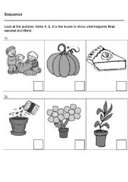 English Worksheets: Sequence