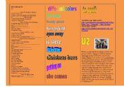 English Worksheets: SONG: U2 - MISS SARAJEVO