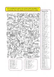 English Worksheets: Find Me